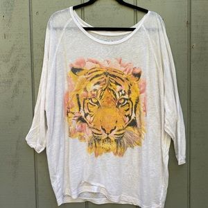 Chaser Oversized Tiger Graphic Shirt